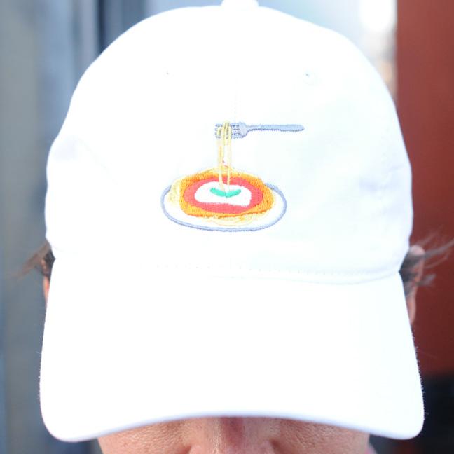 Chicken Parm Hat (Front) - White